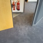 Grey Carpet Tiles Into Hall