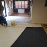 Carpet Being Glued