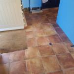 Old Ceramic Tiles By Door