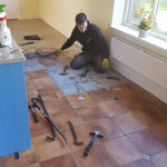 Old ceramic Tiles Removed